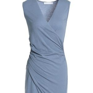Juno wrap-effect ruched stretch-modal dress